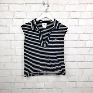 255bea58dd1eb Lacoste Tops - Vintage Lacoste Striped V Neck Crop Top SZ 36